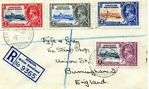 1935 Silver Jubilee Somaliland Protectorate set on  Registered  Last Day Cover