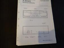 Original Service Manual kennwood x-w320