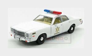 Plymouth Fury Hazzard County Sheriff Police Rosco Patrol 1977 1:24 GREEN84095 Mo