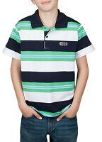 Jungen Poloshirt gestreift Blockstreifen Polo-Shirt T-Shirt 100% Knopf Baumwolle