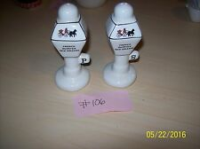 French Quarter New Orleans White Lamp Post Salt and Pepper Shakers