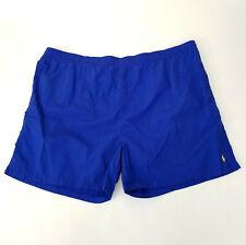 Vintage Polo Ralph Lauren Mens Swim Trunk Shorts Blue Pony Logo Plus Size 5X Big