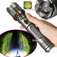 Tactical Police 15000LM  XML T6 LED Flashlight Zoomable 18650 Taschenlampe Lamp