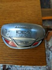 Adams Golf Idea Hybrid 3 Iron A3 Boxer 19 Deg Aldila NVS 65-S Stiff Flex RH