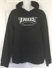 NWT Mens Philadelphia Eagles NFL Hooded Sweatshirt Size XL Black