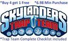 *Skylanders Trap Team Complete UR Set W Checklist *Buy 4 = 1Free*$6.98 Minimum👾 For Sale