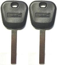 2 Pack - REPLACEMENT TRANSPONDER CHIP GMC Ebony Logo KEY BLANK B119-PT, B121-PT