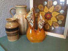 Mid Century Modern Lava Studio Art Pottery Double Vase #3407