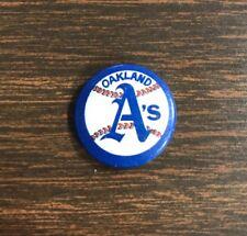 "Vintage 1970s Oakland Athletics A's 1"" Pinback Button MLB Baseball"