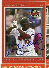 2008 Great Falls Voyagers KEN WILLIAMS Signed Card autograph white sox