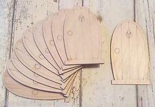 Set of 10 Laser Cut Wooden Fairy Faerie Elf Doors Unpainted D5 Craft Supplies
