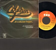 "SOLUTION It's Only Just Begun 2 track SINGLE 7"" 1980 Dutch Fusion NEDERPOP"
