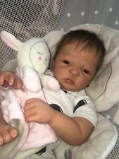 Reborn Baby Doll Emmaline by Donna Lee 4lb 20in Rooted Hair OOAK Cute 💜