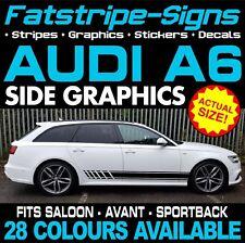 AUDI A6 GRAPHICS STRIPES STICKERS DECALS SALOON AVANT SPORTBACK S6 RS6 S-LINE