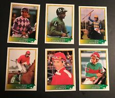 1993 Jockey Star Trading Cards Lot (6) Officially Licensed by the Jockey's Guild