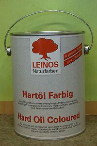 Leinos 240  Hartöl Farbig Schwarz für beanspruchte Hölzer 2,5 l speichelecht