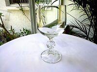"Set of 4 Import Assoc Bohemia Clear Crystal Claudia 5 3/4"" Tall Wine Glasses"