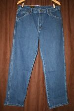 Dickies Denim 5 Pocket Work Jeans Straight Leg Fits Over Boots 34x30 New