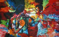 Rocky 3 Oil Painting 30x20 NOT a print poster.Box Framing Avail. Apollo Creed