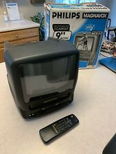 """PHILLIPS Magnavox 9"""" TV VCR Combo Television Model CCC092AT01"""