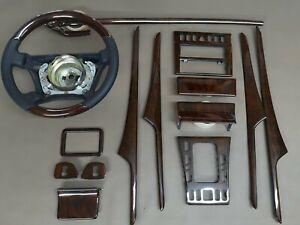 96-98 Mercedes Benz Wood Trim Set W210 E55 AMG E430 E320 E300 E420