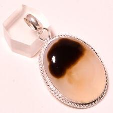 Shard Onyx Oval Gemstone 925 Sterling Silver Pendant Jewelry 2.1 Inch 9989