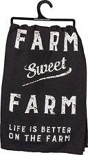 "Farm Sweet Farm Life Is Better On The.~28""~Tea Towel~Hand/Kitchen/Dish~C otton"