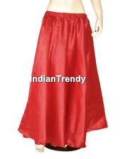 Golden - Satin Skirt Belly Dance Costume Gypsy Tribal Dress 4.5 Yard Half Circle