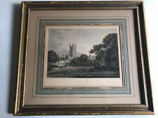 WILLIAM BYRNE Engraving/T.HEARNE Drawing- Gloucester Cathedral - Hand Colored