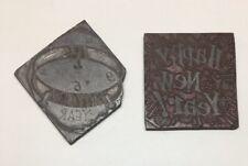 Vintage Printers Block Metal Letterpress NEW YEARS Printing Press Stamp Printer