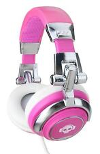 AURICULARES PROFESIONAL DJ PA CASCOS HIFI HEADPHONE ESTUDIO MP3 ABATIBLE FUCSIA