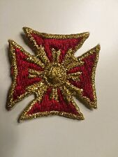 CROSS - EMBROIDERED IRON-ON PATCH BADGE- Lot Of 20