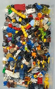 large 8oz (1/2 pound) LEGO MINIFIGURE lot mixed figures accessories weapons lotb