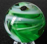 "1998 SAMMY Sam Hogue Handmade 1 1/2""  25 multi color swirl marble ECC"