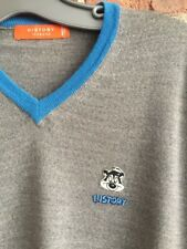 Iceberg History Pepe Le Pew 100% Wool Men's Sweater Size Small Gray, Italy