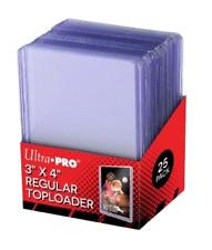Hard Plastic Holder & 25 Sleeves for Baseball Card Topload Display Supplies NEW