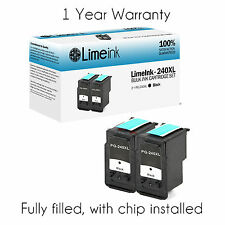 2 pk Black PG 240XL Ink Cartridge for Canon PIXMA MG MX Printer Series MG2120