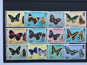 1974 BELIZE - BUTTERFLIES - 12 VALUES TO $10.00 - MNH