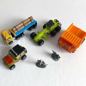 Micro Machines: Construction Mix - Hauler Semi, Grader, Dump Truck, Jeep, Figure