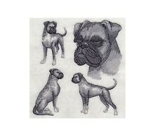 Completed Embroidery Sketch Style Boxer Dog
