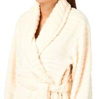 Audelle Lepel Tiger Hush Luxury Plush Dressing Gown Women Sleepwear Cream S M L
