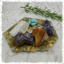 More details for crystal charging dish   abundance orgone / orgonite   cleanse crystals with s...