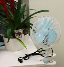 "7"" 2 Speed Oscillating Multi-Use Fan Stand Up Wall Mount, Or Clip On Circulating"