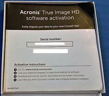 Acronis True Image HD 2015 Backup Cloning Software Activation License Key