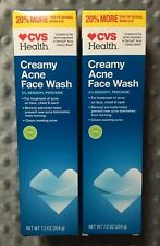 CREAMY ACNE FACE WASH CVS 2 PACK 7.2 OZ EACH COMPARE TO PANOXYL CLEARS ACNE 6/20