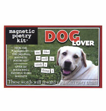 Magnetic Poetry Dog Lover Fun Family Party Game Word Fridge 200 Themed Words