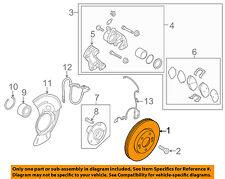 KIA OEM 14-15 Forte Front Brake-Disc Rotor 51712A7000