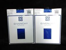 Lot 2 Givenchy Size B Blue Body Gleamers Pantyhose Control Top Shimmery Sheer