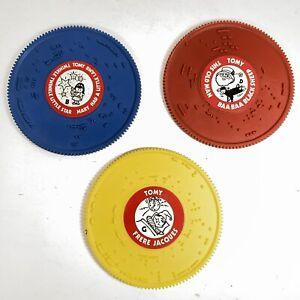 3 Vintage RECORDS / DISCS Tomy Tuneyville Vintage Choo Choo Musical Train 1975