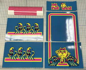 Arcade1up Cabinet Riser Graphics - Ms Pac-Man Pacman Graphic Sticker Decal Set